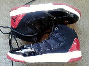 Nike Air Jordan Aura Max Black/White/Red AQ9216-006 Youth Sneakers Size 12C
