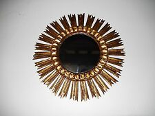 "~c 1940 French Gold Gilt Sunburst Starburst Mirror Beautiful Vintage Big 21""~"