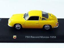 1/43 IXO - NEUF EN BTE VITRINE : FIAT ABARTH 750  RECORD MONZA 1958