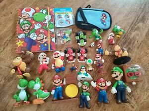Nintendo Super Mario figure toy playset Bundle kart Yoshi DK football toad knex