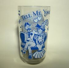 BIG TOP BUTTER GLASS - SONG LYRIC GLASS - TELL ME YOUR DREAM