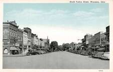 Wauseon Ohio North Fulton Street Scene Store Fronts Antique Postcard K16182