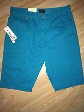 "**CLEARANCE** Kangol New Men's Chino Shorts Aquamarine Large 34-36"" RRP £24.99"