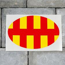 Northumberland County Oval Flag Sticker - Self Adhesive Vinyl - SKU5799