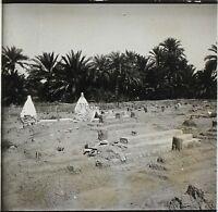 Algeria Biskra Vecchio Cimitero Placca Da Lente Stereo Positivo