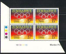 Zimbabwe 1980 Olympics/Games/Sports/Sun c/b vfu n31538