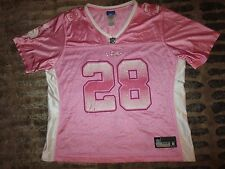 Adrian Peterson #28 Minnesota Vikings Reebok Pink NFL Jersey Womens XL