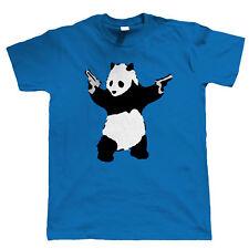 Banksy T Shirt Panda With Guns Mens Urban Art Graffiti Hipster, Stock Clearance