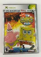 The SpongeBob SquarePants Movie (Microsoft Xbox, 2004)  Platinum Hits COMPLETE