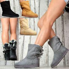 Forrado Invierno Zapatos Mujer Botas Botines lujo piel sintética gris camel