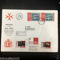 1975 Knights of Malta SMOM Switzlerland Goldphila Stamps First Day Cover