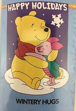 "Winnie The Pooh Decorative Flag Wintery Hugs Holiday 28""x40"" Meadow Creek"