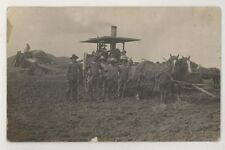 1910 era Tractor & Threshing Crew RPPC Great Image!