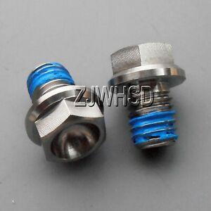 2pcs M8 x 10 mm Titanium Ti Screw Bolt Hexagon Hex Head Flange + Thread Loker