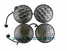 "5-3/4"" LED Cree Light Bulb Lamps Crystal Clear Sealed Beam Headlight 12V 2 Pairs"