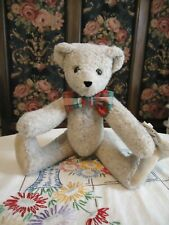 """New Vintage 12"""" Vermont Teddy Bear Co. Small Tan Fully Jointed Bear W/Bowtie"""
