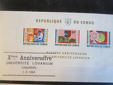 Kongo, Block 3, Universität Wissenschaft, FDC (44854)