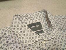 Bonobos 100% Cotton Navy Diamond Pattern Trim Fit Sport Shirt NWT Medium $98