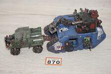 Warhammer 40k Space Orks Ork saqueada Land Raider & Taurox Lote 741 Pintado & basado