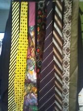 8 LOT Mens Fashion Ties Assorted Styles NEED DRYCLEAN/ PRESSED AS IS NO RETURN