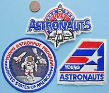 NASA PATCH LOT of 3 vtg YOUNG ASTRONAUTS Program United States Shuttle