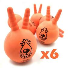 Throw Fetch Dog Orange Squeaky Toy Space Lobber Junior 11.5 cm Bouncy Ball x 6