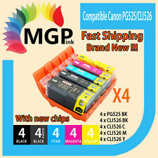 20x inks for Canon PGI525 CLI526 PIXMA MX715 MX885 MX895 IP4800 IP4850 Chip