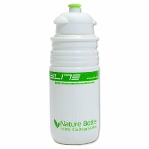 ELITE Nature Bottle Cycling Water Bottle 550ml , White x Green