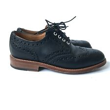Mark McNairy Buffy the Vampire Shoes Womens 7 Wingtip Oxfords Black Leather MINT