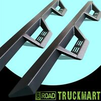 05-21 Fit New Toyota Tacoma Double Cab Tri-Angular Side Steps Running Board BLK