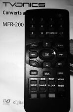 TVOnics MFR 200 FREEVIEW Box Replacement Remote Control ONLY New FREEPOST