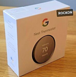 Google Nest Smart Thermostat, Charcoal - GA02081-US, 2021 Model, FACTORY SEALED