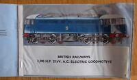 3,300 H.P. 25kV electric locomotive reveal book British Railways DONCASTER WORKS
