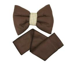 Baby Room Decorative Bow for Curtains / Canopy / Drape Decoration - Brown Plain