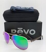 NEW Revo Shaw sunglasses RE 5021 04 GN 61mm Gold Green Mirror Polarized Aviator