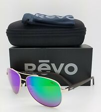 NEW Revo Shaw sunglasses RE 5021 04 GN 61mm Gold Green Mirror Polarized Aviator