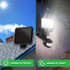 60 LED Solar Powered Motion Sensor Flood Light Wall Garden Outside Security Lamp