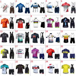 2021 team Mens Cycling Jerseys & Bib Shorts Set Bike jersey and bib shorts