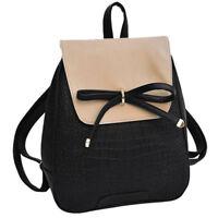 Coofit Girls Bowknot Cute Bag PU Leather Backpack Mini Backpack Purse for Women