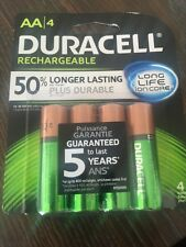 A2 Duracell AA Rechargeable Ion Core Batteries 4-Pack 1350 mAh