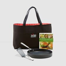 "NEW $240 ALL-CLAD Nonstick 12"" Grill Pan & Accessory Set"