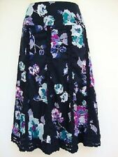 Monsoon Cotton Calf Length Floral Skirts for Women