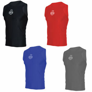 Mens Compression Base Layer Sleeveless Vest Sports Gym Fitness Stretch Tank Tops