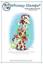 """Stempel """"Christmas Giraffe"""" Whimsy Stamps, Weihnachten, Giraffe mit Lichterkette"""