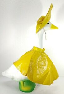 Vintage Goose Geese Yellow Rain Coat and Hat Clothes