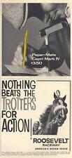 1960 Papermate PRINT AD & Roosevelt Raceway PRINT AD