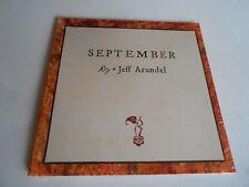 Jeff Arundel - September (Audio CD, Oct 29, 2013) Digipak