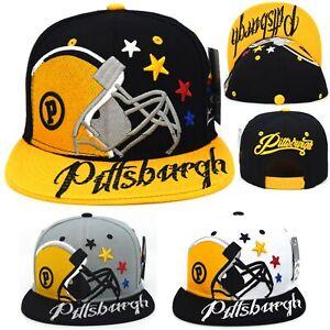 Pittsburgh New Leader Colossal P Black Gold White Gold Grey Era Snapbakc Hat Cap