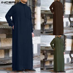 Muslim Mens Clothing Saudi Arab Long Sleeve Thobe Islamic Jubba Thobe Man Kaftan