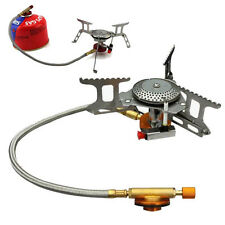 3500W Foldable Outdoor Camping Picnic BBQ Gas Burner Mini Steel Stove Portable